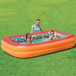 Blue Wave Splash & Play 3D Interactive Adventure Rectangular Inflatable Pool