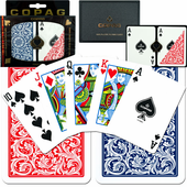 Copag  Poker Size REGULAR Index w/case  (Blue & Red)