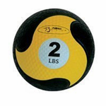 "FitBall Weighted Medicine Ball (Yellow 2 lbs 7.75"")"