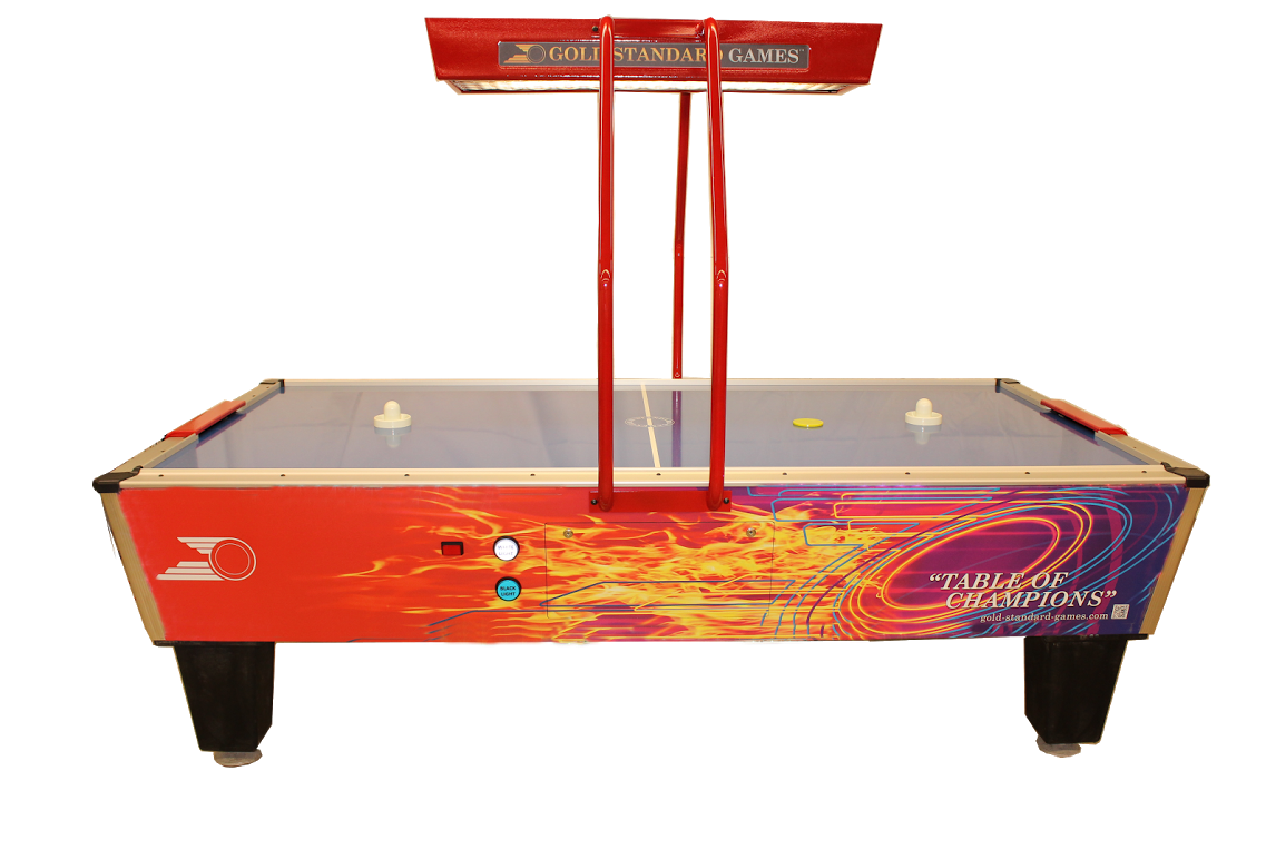 Gold Standard Games Gold Pro Elite Home Air Hockey Table (with Full  Overhead Score Unit)