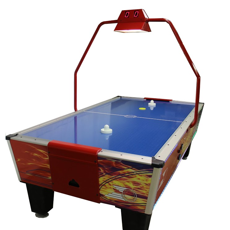 Gold Standard Games Gold Pro Plus Air Hockey Table ( Compact Overhead Score  Unit With Light)