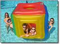 Blue Wave Inflatable Cube