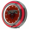 "NCAA Brown University 14"" Neon Clock"