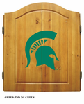 NCAA Michigan State University Imperial Dart Board and Cabinet
