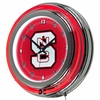 "NCAA North Carolina State University 14"" Neon Double Ringed Clock"