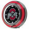 "NCAA Ohio State University 14"" Neon Double Ringed Clock"