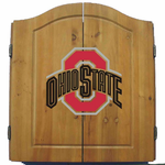 NCAA Ohio State University Imperial Dart Board and Cabinet