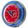 "NCAA University of Dayton 14"" Double Ringed Neon Clock"