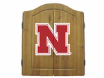 NCAA University of Nebraska Imperial Dart Board and Cabinet