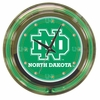 "NCAA University of North Dakota 14"" Double Ringed Neon Clock"