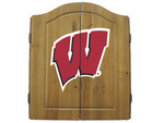 NCAA University of Wisconsin Imperial Dart Board and Cabinet