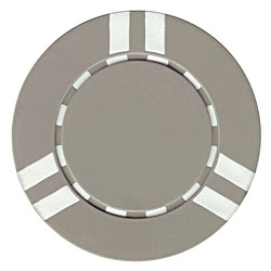 Sopranos Striped Clay Poker Chips - Gray