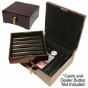 Wooden Chip Poker Case with High Lacquer Finish - Holds 750 Chips