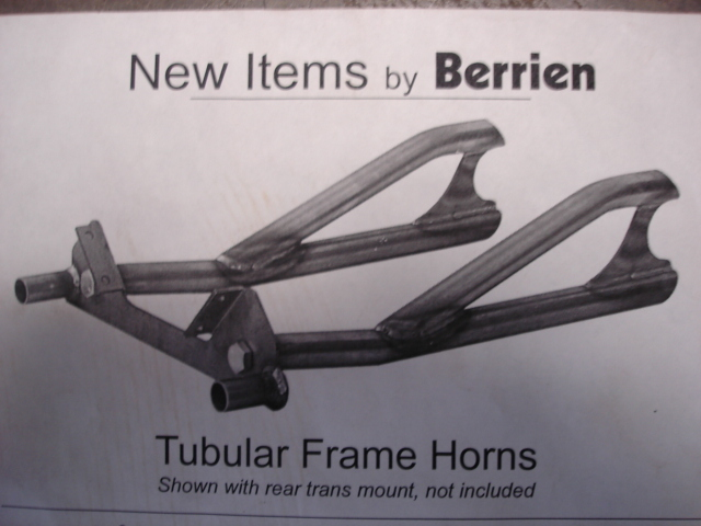 BERRIEN BUGGY'S TUBULAR FRAME HORNS