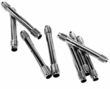 ZINC  PLATED  PUSH  TUBES  set of 8