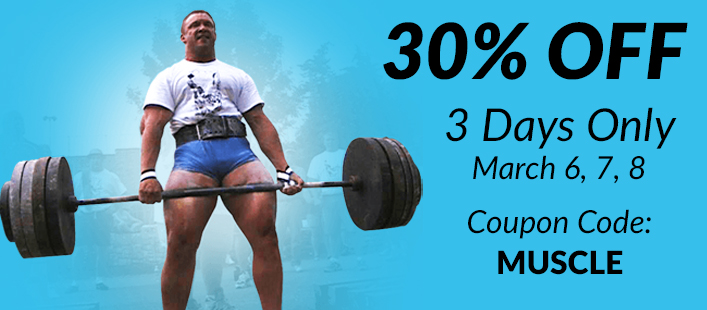 30% OFF 3 Days Only At House Of Muscle