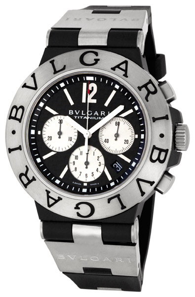 Bvlgari diagono chronograph watch ti44btavtdch sln jomashop for Bvlgari watches