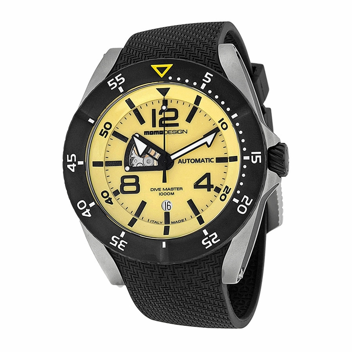 Momo design dive master yellow dial black rubber mens watch md279sb21 - Momo design dive master ...