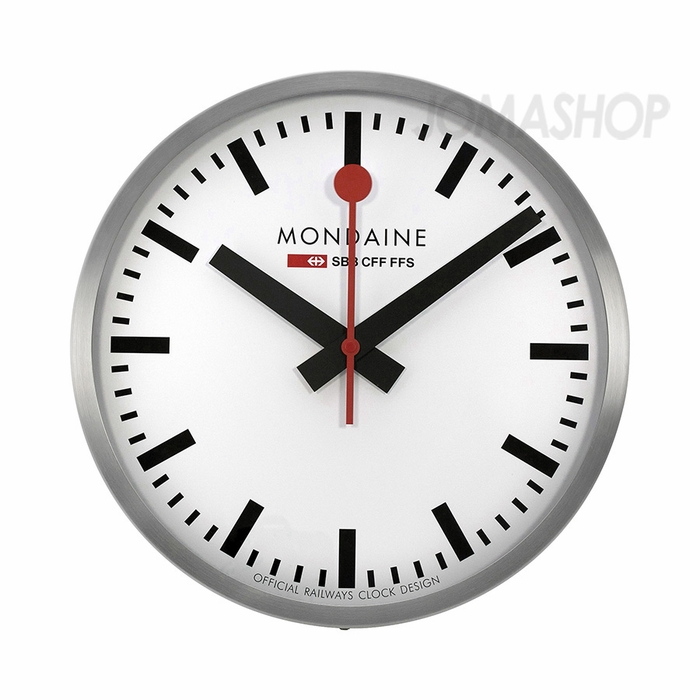 Mondaine 40cm white dial stainless steel wall clock a995cl16sbb - Mondaine wall clocks ...