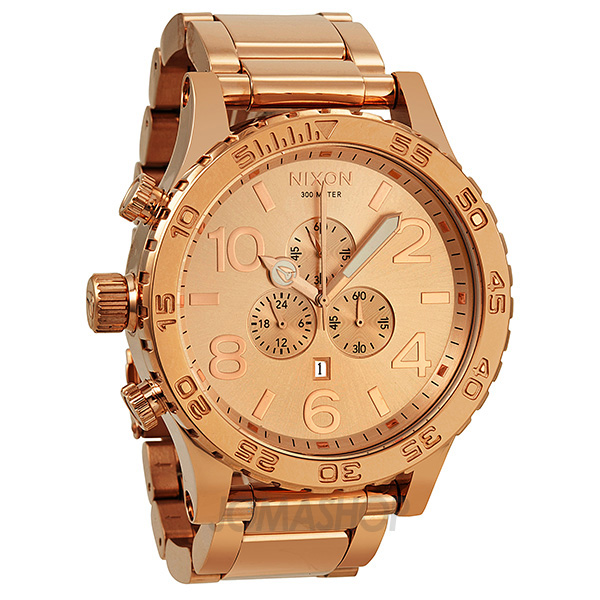 Nixon 51-30 Chronograph Rose Gold-Tone Stainless Steel Men ...