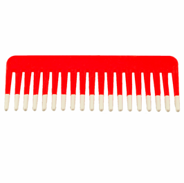 Large Red Fluff Comb