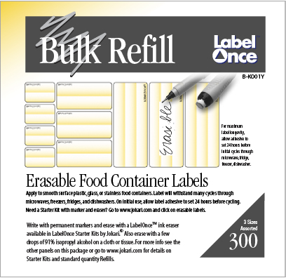 Food Labels Bulk Refill-300