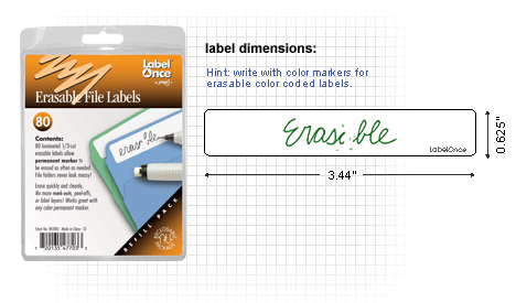 File Folder Labels Refill-80