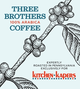 1 Lb Three Brothers Decaf Kitchen Kapers House Blend Coffee Beans - Click to enlarge