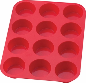 12 Cup Silicone Muffin Pan - Click to enlarge