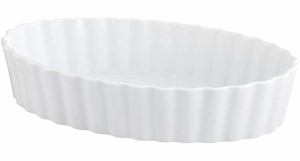 "12"" x 2.75"" Deep Oval Fluted Baker - Click to enlarge"