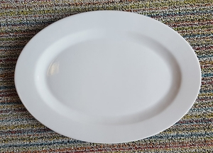 "14"" White Oval Platter - Click to enlarge"