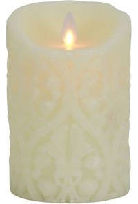 Ivory Damask Forever Flame - Click to enlarge