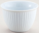 5 oz. White Porcelain Ribbed Custard Cup