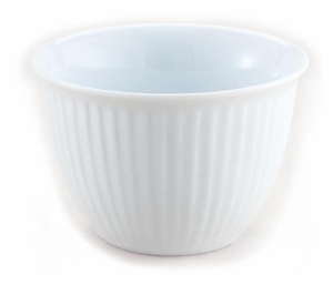 5 oz. White Porcelain Ribbed Custard Cup - Click to enlarge