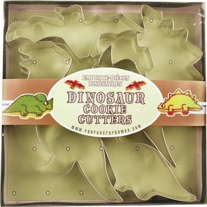 5 Piece Dinosaur Cookie Cutter Set - Click to enlarge