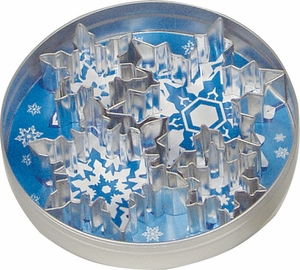 5 Piece Snowflake Cookie Cutter Set - Click to enlarge