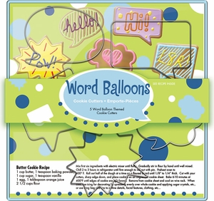 5 Piece Word Balloons Cutter Set - Click to enlarge