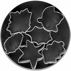 6 Piece Leaves Cookie Cutter Set - Click to enlarge