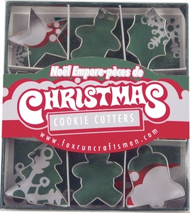 9 Piece Mini Christmas Cookie Cutter Set - Click to enlarge
