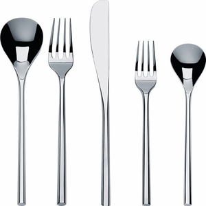 Alessi 5 Piece Mu Cutlery Set - Click to enlarge