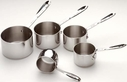 All Clad Stainless Steel 5 Piece Measuring Cup Set