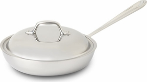All Clad Stainless Steel French Skillet with Domed Lid - Click to enlarge