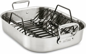 AllClad Stainless Roaster Combo - Click to enlarge