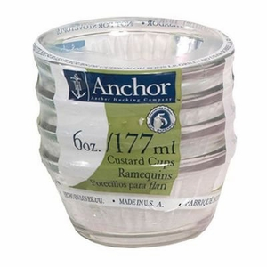 Anchor Hocking Set of 4 Clear 6 oz. Custard Cups - Click to enlarge