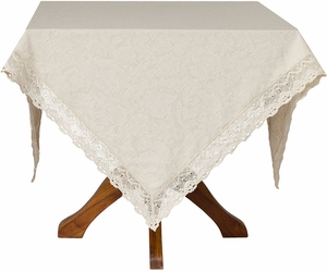 April Cornell Jacquard Linen Tablecloth - Click to enlarge