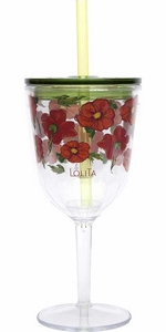 Acrylic Goblet with Straw - Click to enlarge