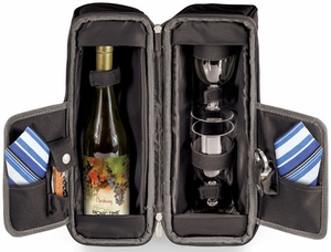 Picnic Time Estate Wine Tote Black - Click to enlarge