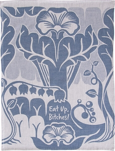 Blue Q Eat Up Woven Towel - Click to enlarge