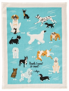 Blue Q People To Meet Dogs Towel - Click to enlarge