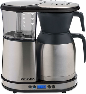 Programmable Coffee Maker Stainless Steel Carafe : Bonavita 8 Cup Programmable Coffeemaker with Stainless Steel Carafe BV1900TD BV1900TD